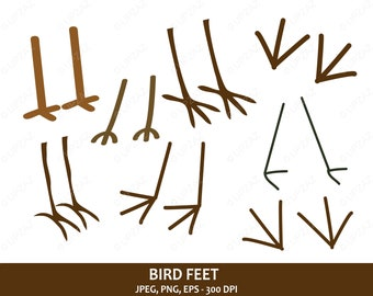 Bird Feet Clipart, Vector Graphics, SVG, Digital Images - UZ712