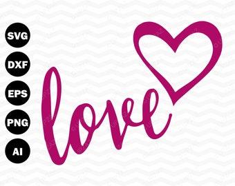 Love SVG, Valentine's Day svg, Commercial Use, Vector Graphics, Digital Image - USVG111