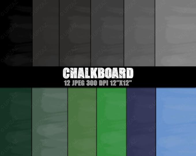 40% OFF SALE Chalkboard Digital Papers, Background, Digital Images - UZDP925