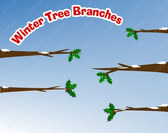 Winter Tree Branches Clipart - UZ821
