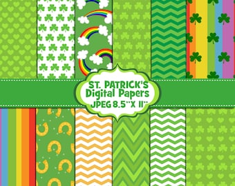 St- Patrick's Digital Papers, Background, Digital Images - UZ878.B