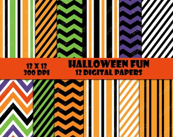 Halloween Digital Papers, Scrapbook Papers, Digital Images, Background - UZ1030