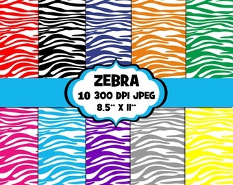 Zebra Print Digital Papers, Digital Images, Background - UZ838