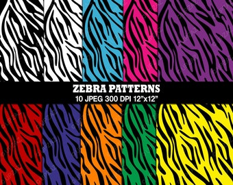 Zebra Print Digital Papers, Background, Digital Images - UZ813