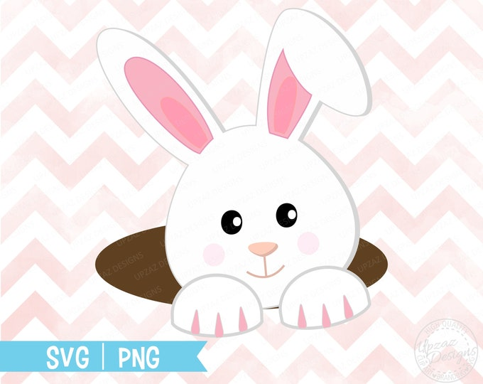 Easter, Easter bunny clipart, girl Easter bunny svg, Rabbit clipart, bunny ears svg, Easter bunny cut file - SV918