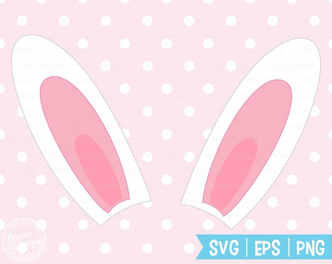 Easter, Bunny Ears SVG, Rabbit Ears Svg, Silhouette Cut Files, Cricut Cut Files, Svg Files - SV420