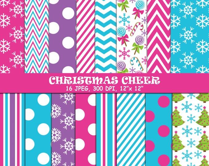 40% OFF SALE Christmas Digital Papers, Background, Digital Images - UZDP1856