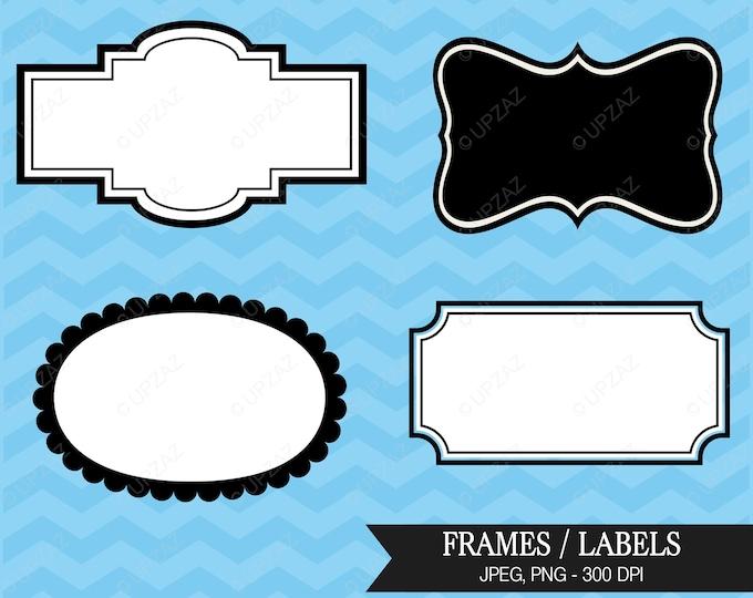 40% OFF SALE Frame Clipart, Vector Graphics, Digital Images - UZ590