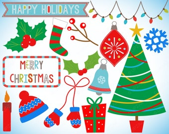 Christmas Clipart, Commercial Use, Digital Image - UZ1133