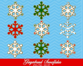 Snowflake Clipart, Commercial Use, Snowflakes, Digital Clipart, Digital Images - UZ594