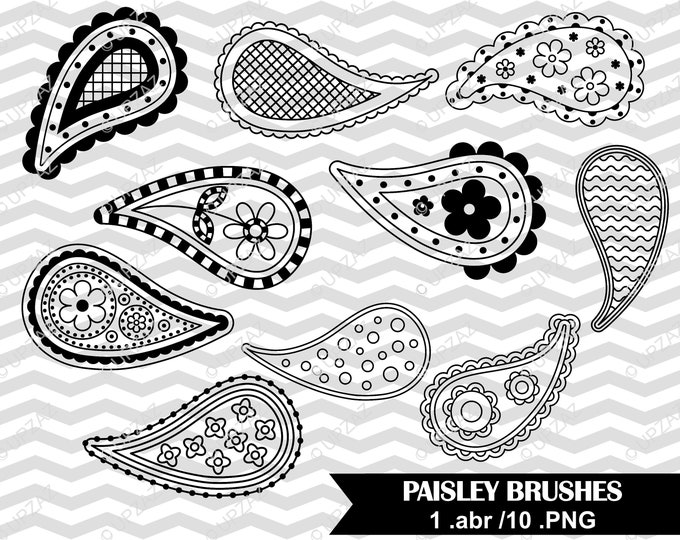 80% OFF SALE Photoshop Brushes, Paisley Brushes - UZPSB855