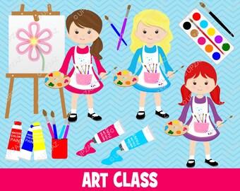 Art Class Clipart, Artist Clip Art, Digital Images - UZ850