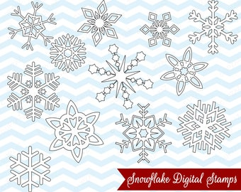 Snowflake Digital Stamps, Digital Images - UZ863