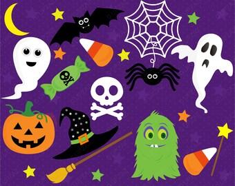 Halloween Clipart, Digital Images - UZ1017