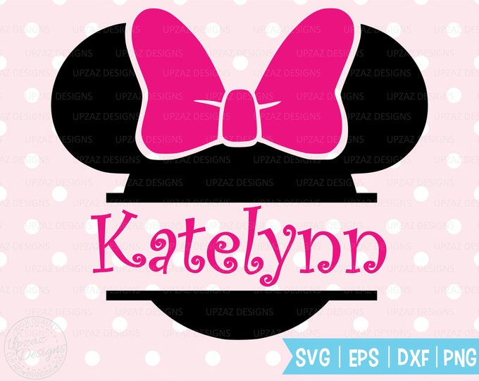 Minnie Mouse svg, Minnie svg, Disney svg, Monogram svg, Silhouette, Cricut - SV1202