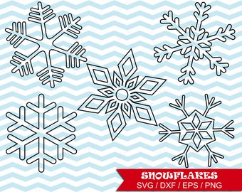 Snowflake Digital Cut Files, Svg, Dxf, Png, Snowflake Cut File - UZ1080