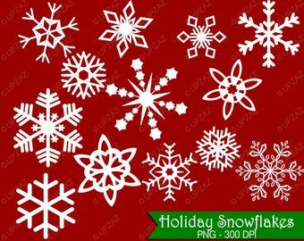 Snowflake Clipart, Digital Images - UZ595