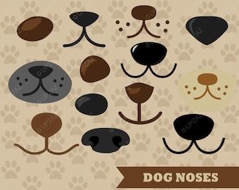 Dog Nose Clipart, Vector Graphics, Dog SVG, Dog Noses, Digital Clip Art - UZ640