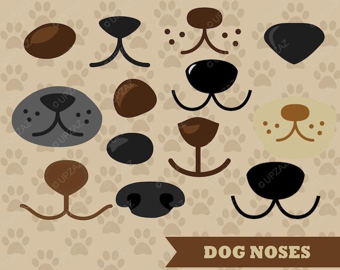 80% OFF SALE Dog Nose Clipart, Vector Graphics, Dog SVG, Dog Noses, Digital Clip Art - UZ640