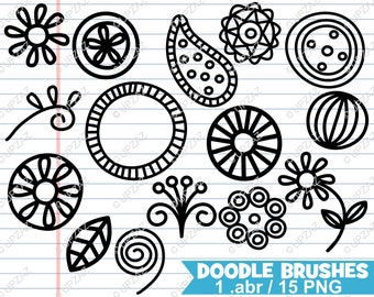 Paisley Photoshop Brushes, Doodle Photoshop Brushes - UZPSB858