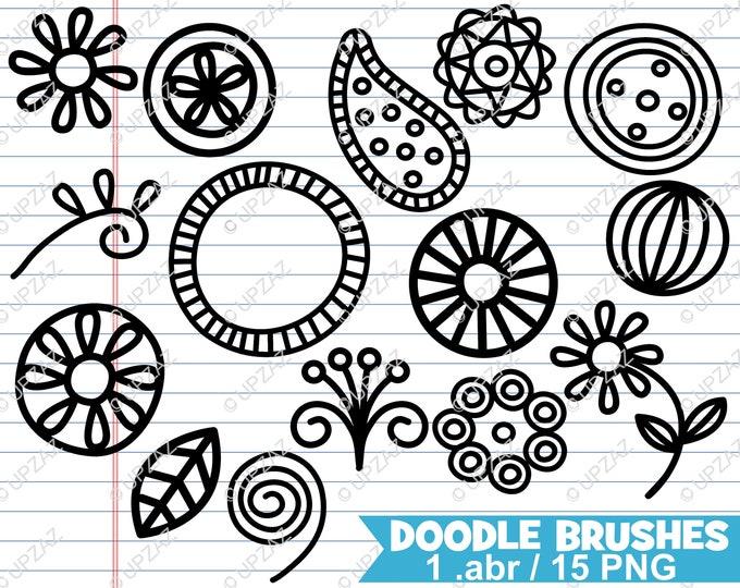 80% OFF SALE Paisley Photoshop Brushes, Doodle Photoshop Brushes - UZPSB858