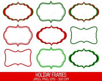 Christmas Frame Clip Art, Vector Graphics, Digital Images - UZ623