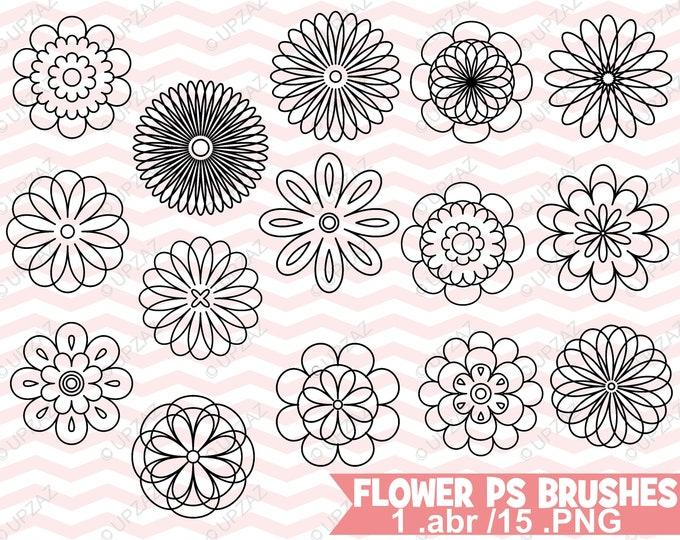 80% OFF SALE Photoshop Flower Brushes - UZPSB856