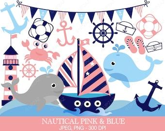 Nautical Clipart, Sailor Theme, Digital Images - UZ588