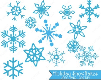 Snowflake Clipart, Commercial Use, Snowflakes, Digital Clip Art, Digital Images - UZ624