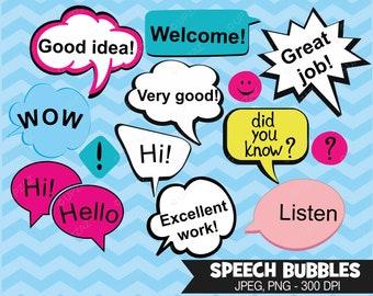 Speech Bubble Clipart, Digital Images - UZ610