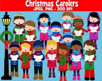 Christmas Carolers Clipart - UZ889