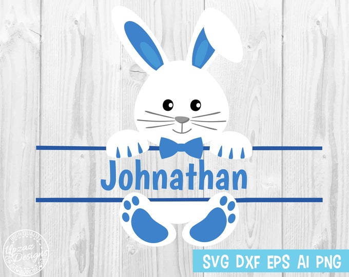 Easter Bunny SVG, Easter bunny monogram svg, Girls Easter svg, Easter cut file - SV927