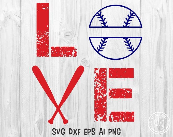 Baseball Monogram SVG, Softball svg, Split Monogram svg, Vector Graphics, Commercial Use - SV919