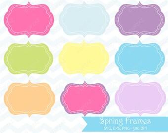 Spring Frames Clip Art, Instant Download, Digital Images - UZ883