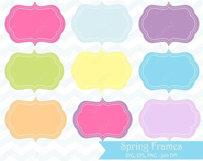 40% OFF SALE Spring Frames Clip Art, Instant Download, Digital Images - UZ883