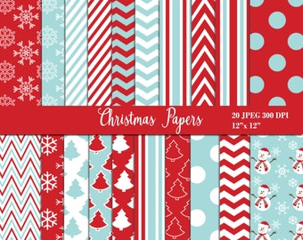 Christmas Digital Papers, Background, Digital Images - UZDP1857