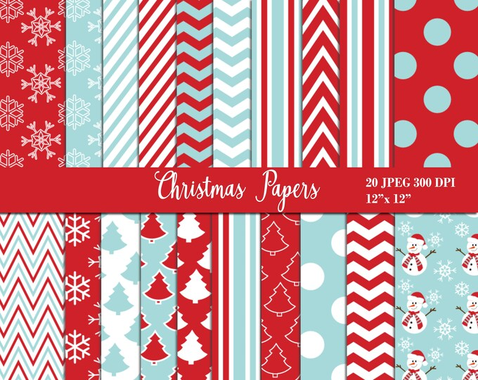 40% OFF SALE Christmas Digital Papers, Background, Digital Images - UZDP1857