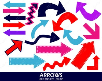 Arrows Clipart, Arrows and Pointers, Arrow Icons, Digital Images - UZ596