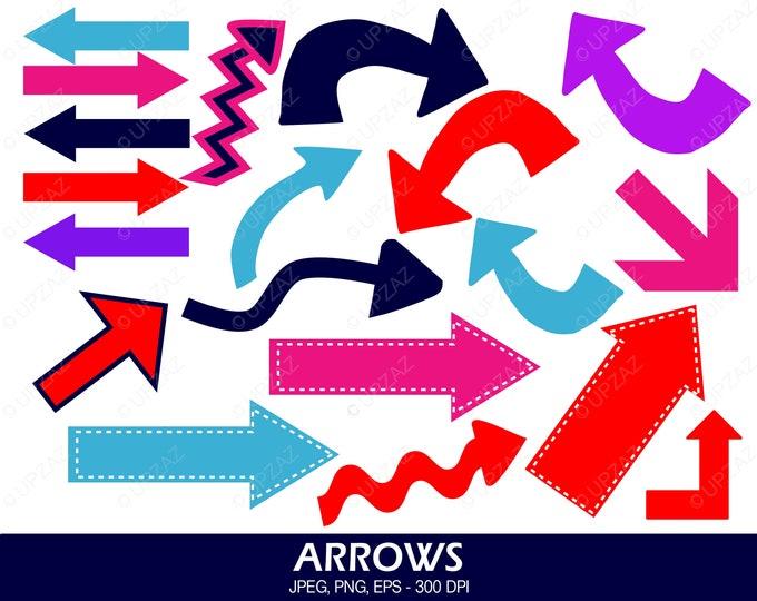 40% OFF SALE Arrows Clipart, Arrows and Pointers, Arrow Icons, Digital Images - UZ596