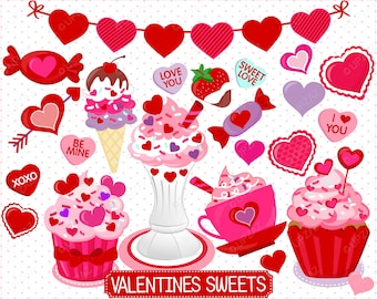 Valentines Day Clipart, Digital Images - UZ870