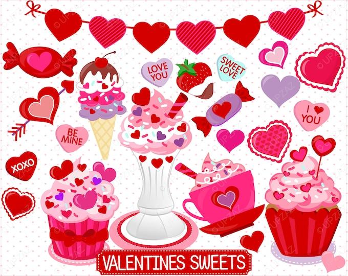 40% OFF SALE Valentines Day Clipart, Digital Images - UZ870