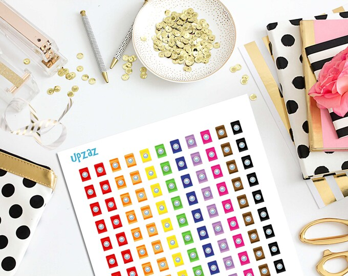 80% OFF SALE Rainbow Washing Machine Planner Stickers, Set of 132 Printable Stickers, Instant Download - UZ820PS