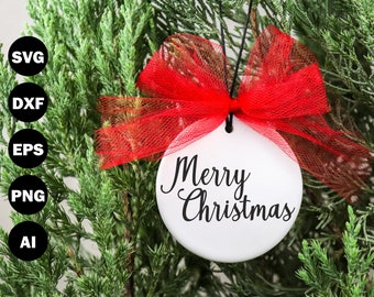 Merry Christmas Hand Lettered Svg - SVG807
