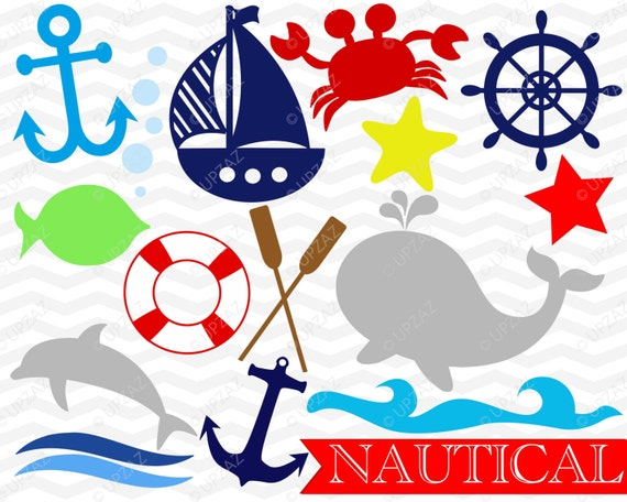 Nautical Svg Dxf Cut Files Anchor Whale Dolphin Star Starfish Captains Wheel Sailboat Nautical Theme Uz938 By Upzaz Catch My Party
