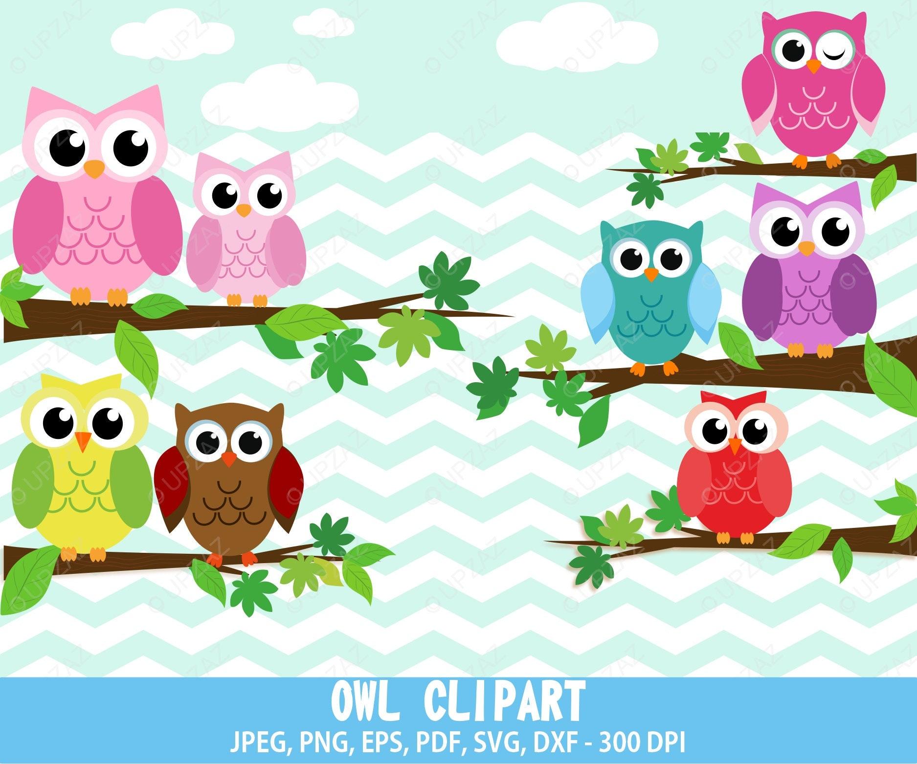 75% OFF SALE Owl Clipart Commercial Use UZ633 | Etsy