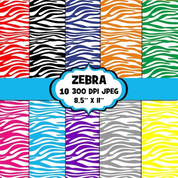 Zebra Print Digital Papers Background UZ812 Digital Images Scrapbook Papers