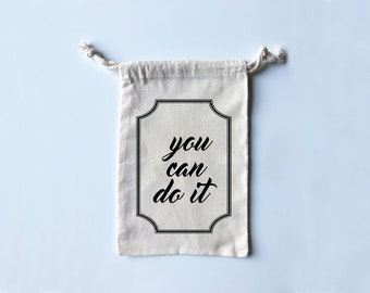 You Can Do It - Adorable Travel/Fitness/Grippy Sock/Boxing Wrap/Dance Shoe Bag!