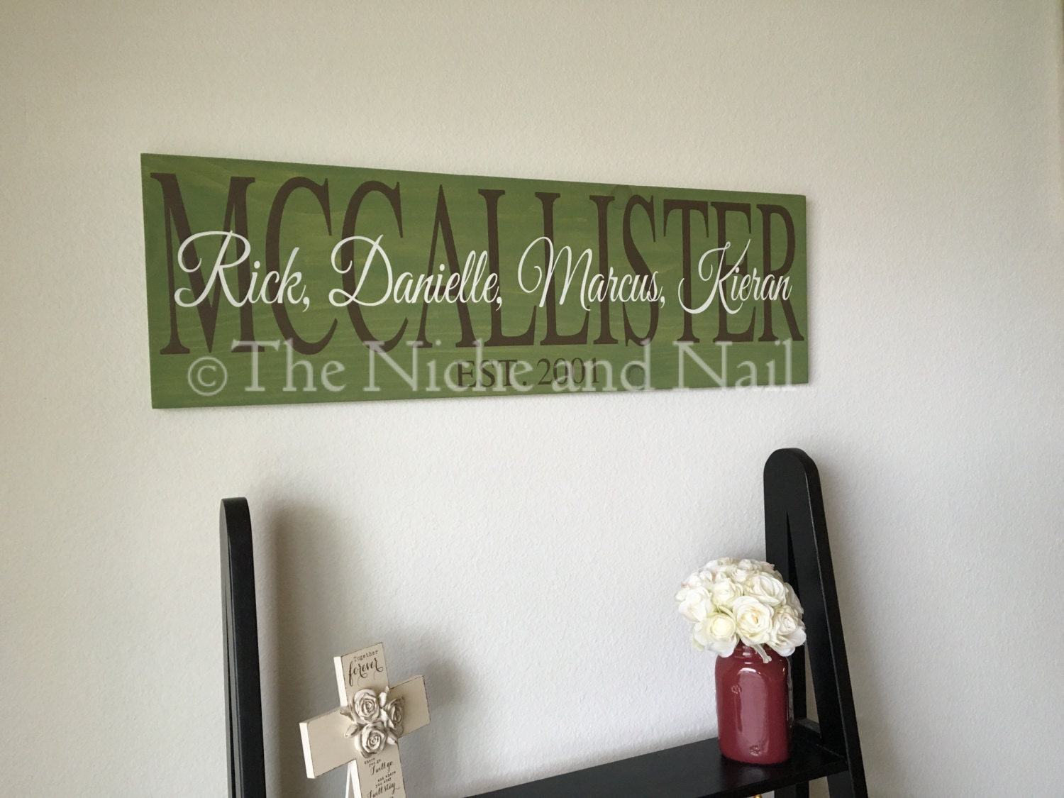 Family Sign, Home Decor, Personalized Home Decor, Family Decor, Wood ...