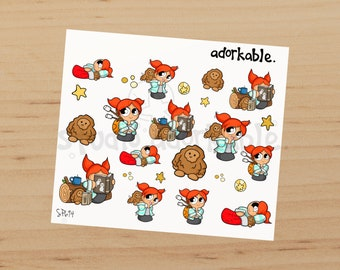 Camping Bits Option C Glossy Stickers / SP694