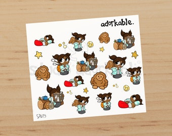 Camping Bits Option B Glossy Stickers / SP693